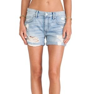 NWT Lovers + Friends Dylan Slouchy Denim Shorts